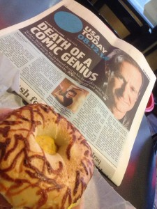 Robin Williams death in USA Today